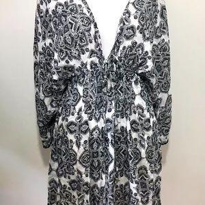 Dotti Positanos Tile Kimono Dress Swim Cover